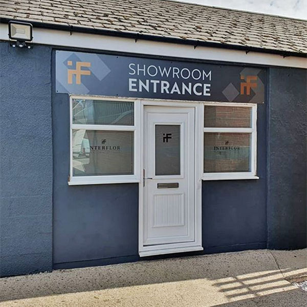 Interflor Showroom Entrance Signage