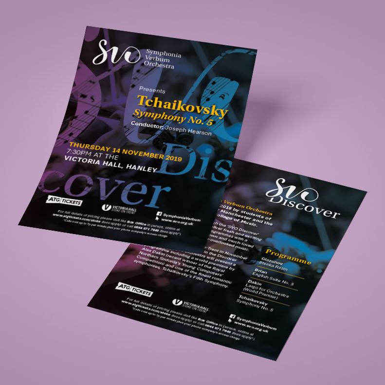 Symphonia Verbum Orchestra flyer design